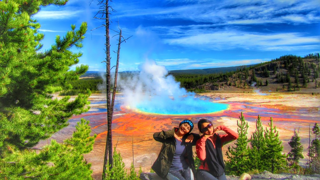 Grand Prismatic Spring Via Fairy Falls Trail